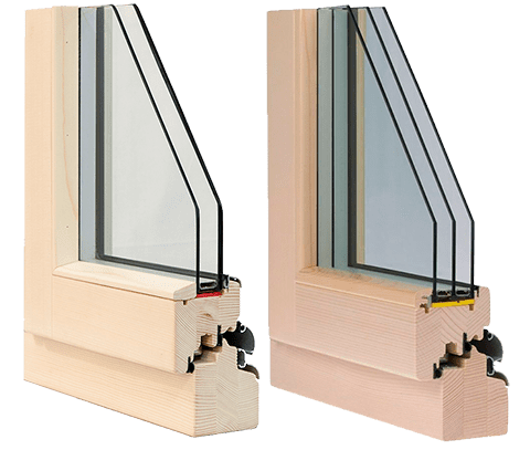 ДЕревянные окна Holz со стеклопакетом