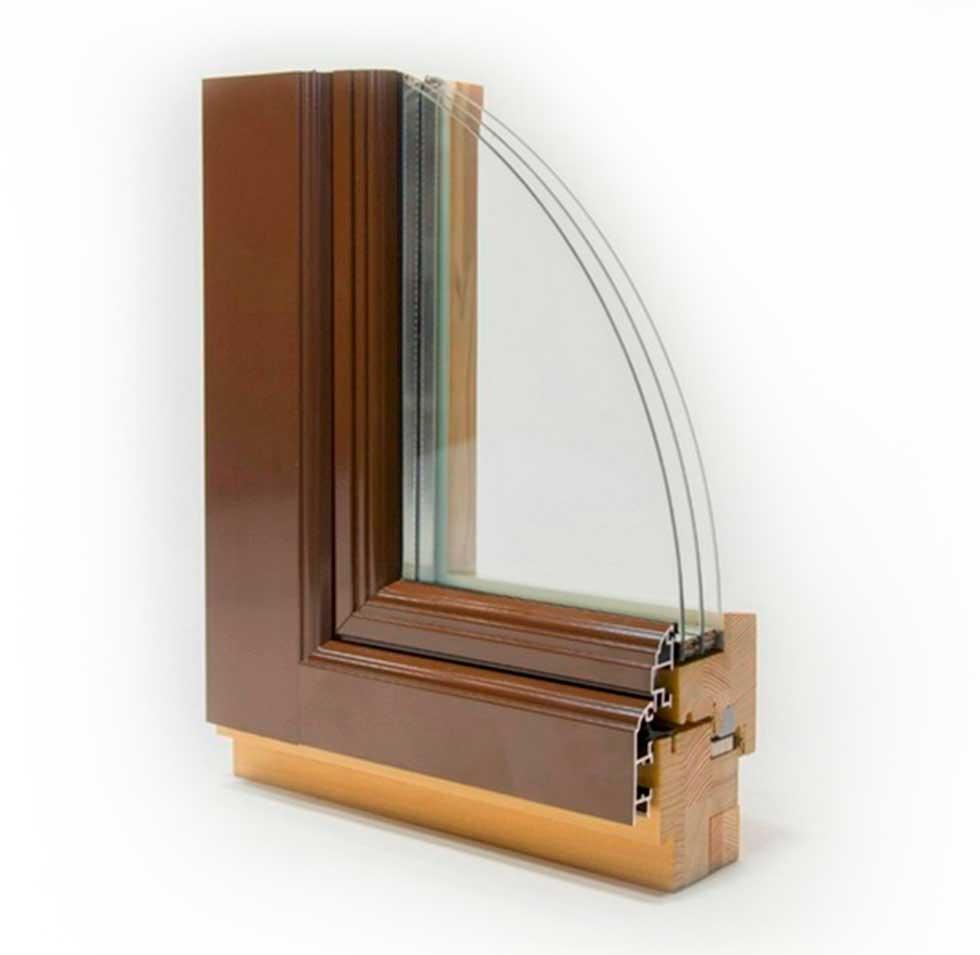 Деревянная система с алюминиевым окладом Gut-98