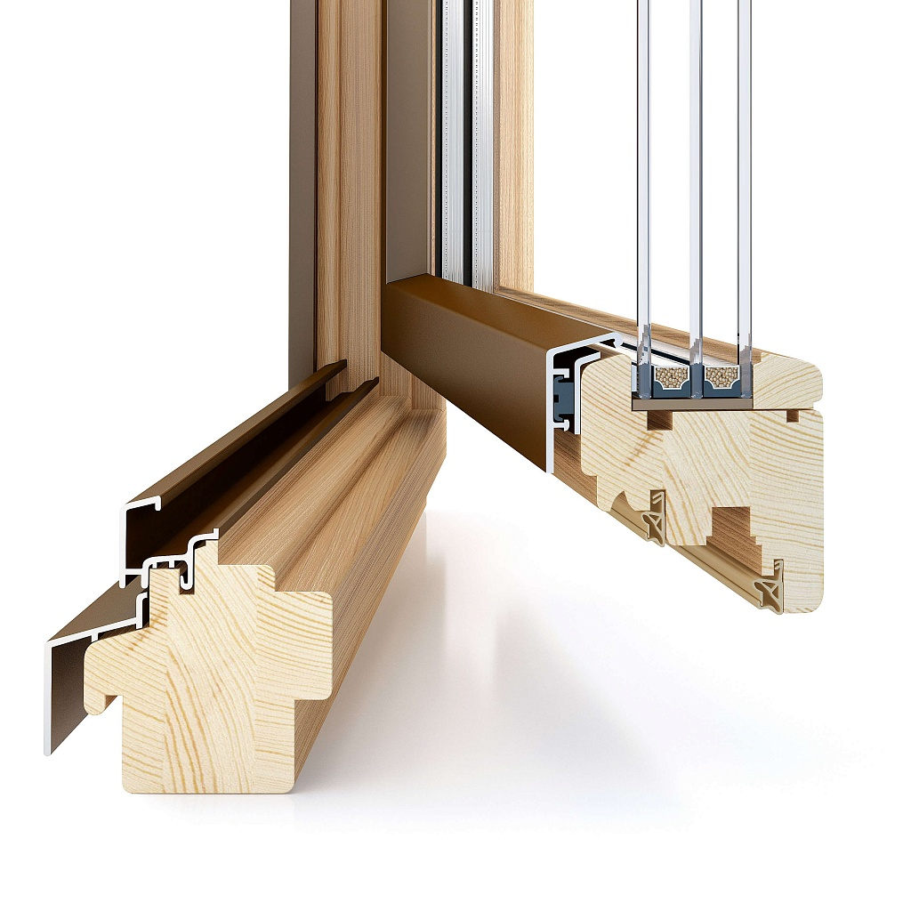 Дерево-алюминиевые окна Holz