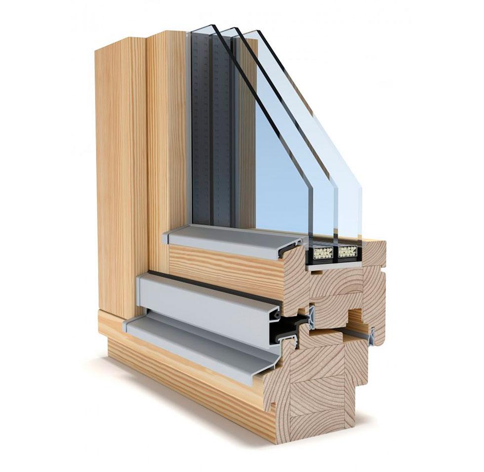 Деревянный профиль Eco Term 86 с двойным стеклопакетом