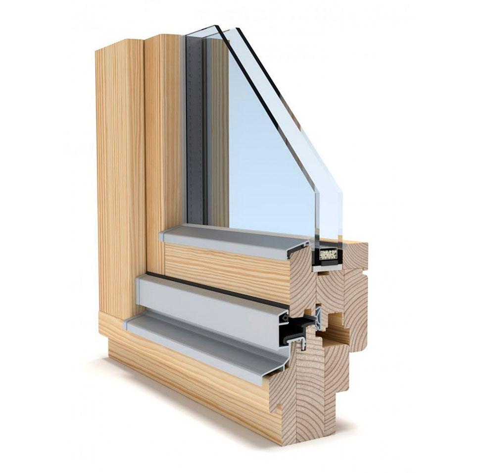 Профильная система Holz IV-68 со стеклопакетом